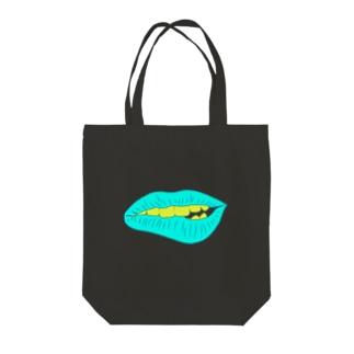 くちびる Tote bags