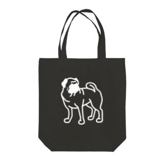 PUG(濃色用) Tote bags
