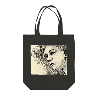 EMK SHOPSITE のface Tote bags