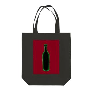 ワインボトル Tote bags
