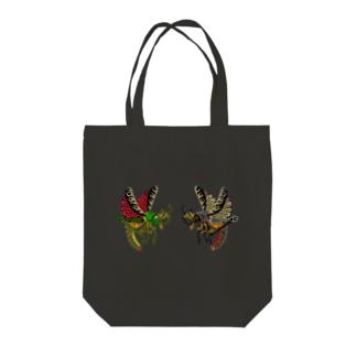 昆虫イラストシリーズ・バッタ印 Tote bags
