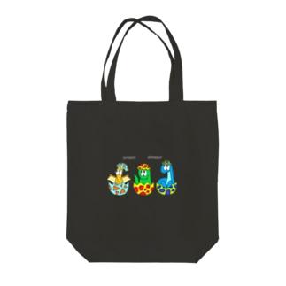 SHUNKAの恐竜/モンスター Tote bags