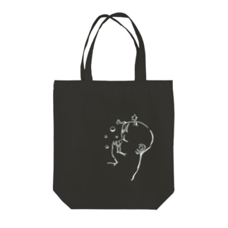 尊いトート(黒) Tote bags