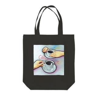 コーヒータイム Tote bags