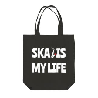 SKA IS MY LIFE(白) Tote bags