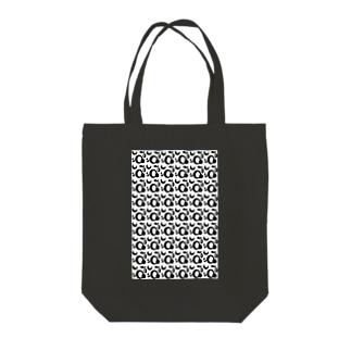 アオフジマキのモダンパターン Tote bags