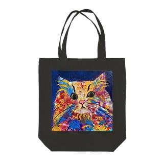 Gemstone Cat Tote bags