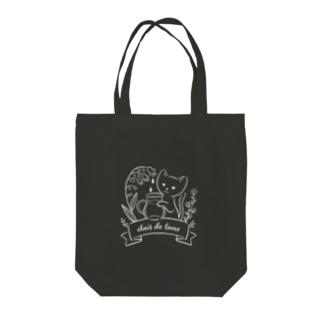 月あかり(ホワイトライン) Tote bags