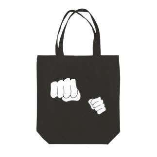 筆書き拳紋 Tote Bag
