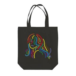 カラフルな女性 Tote bags