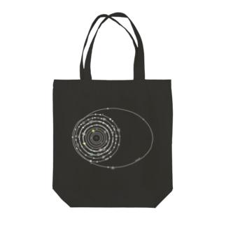 cosmicatiromの太陽系の衛星 白 Tote bags