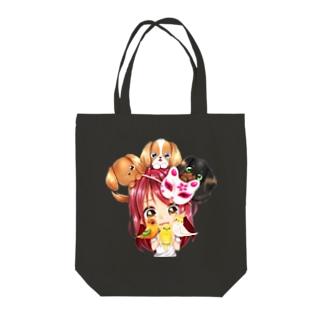 きゃぴあてれび♥ショップのハッピーアニマル(初期限定デザイン|キャバリア・インコ・犬・鳥) Tote Bag