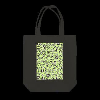イラストレーター yasijunのひょうがら猫ちゃん(ライムグリーン)トートバッグ Tote bags