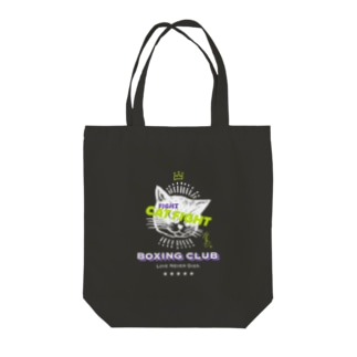 CAT FIGHT Tote bags