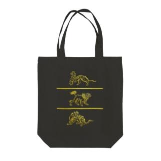 虎 獅子 豹 Tote Bag