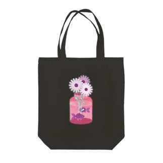 SPRING : 花と金魚 トートバッグ Tote bags