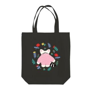 flower  cat Tote bags