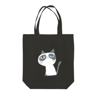 ぱんだぬこ Tote bags