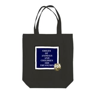 フクロウ×MESSAGE Tote bags