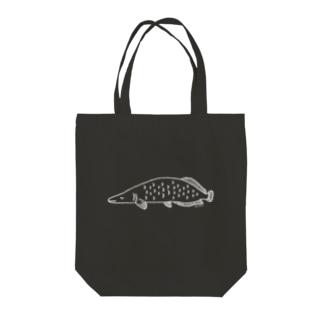 ねむみピラルク(白) Tote bags