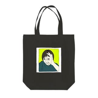のぞきみ Tote bags