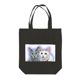 ラムちゃんノアちゃん Tote bags