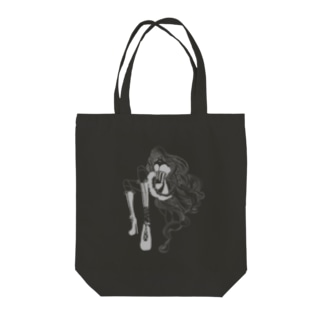 ブラック 球体関節人形トートバック Tote bags
