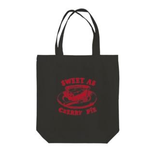 Cherry pie Tote bags