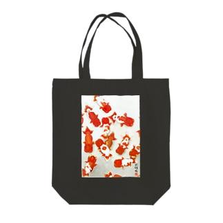 【金魚】宇野系ランチュウ~秋の群泳~ Tote bags