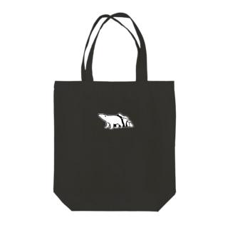 シロクマと氷山(小) Tote bags