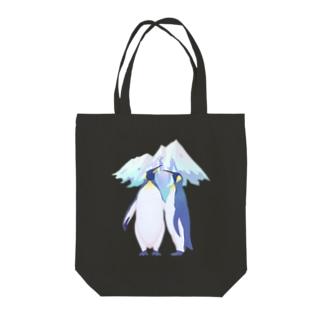 上中さとるの王様ペンギン(雪山) Tote bags