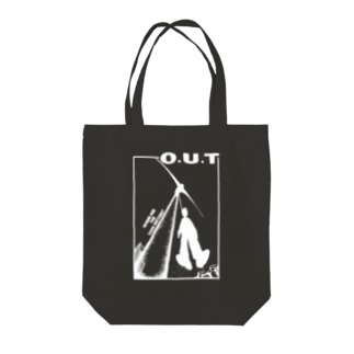 O.U.T / NEW USED COLLECTION  Tote bags