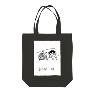 pillow talk Tote bags
