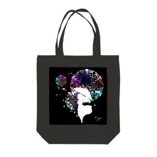 詠み人知らず(黒) Tote bags