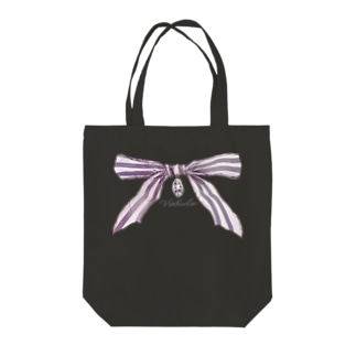 宝石と蝶結び トートバッグ