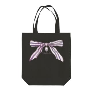 宝石と蝶結び Tote bags