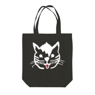 ヤンチャ猫(白色生地以外用) Tote bags