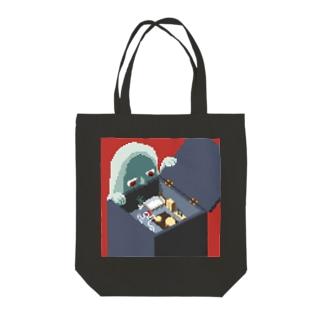 ワンルーム狂想曲(赤) Tote bags