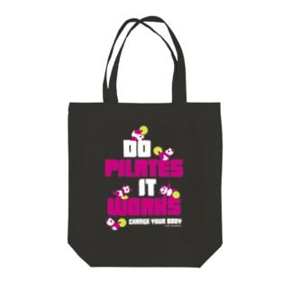 ピラティス PILATES ウェア パンダ Tシャツ pink Tote bags