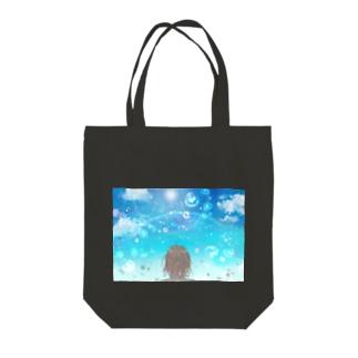 水しぶきの中の虹 Tote Bag