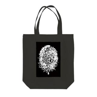 顔 Tote bags