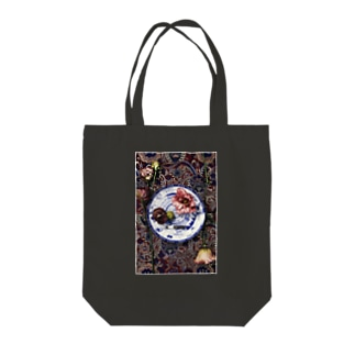 円のコンポジション Tote bags