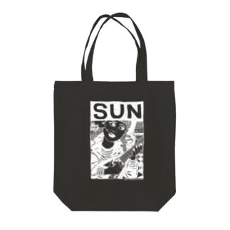 SUN/BLACK Tote bags