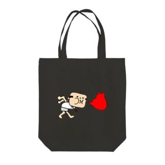 火をふくおっちゃん Tote bags