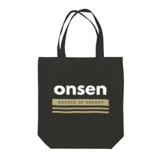 温泉(Source of energy,wb) Tote bags