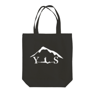 YASHIMA-SLACKLINESのYSスプレッド-ホワイト Tote bags