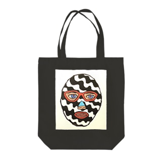 ストライプマスクマン Tote bags