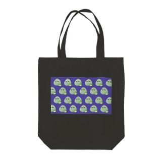 こんぶおにぎり羅列紫 Tote bags