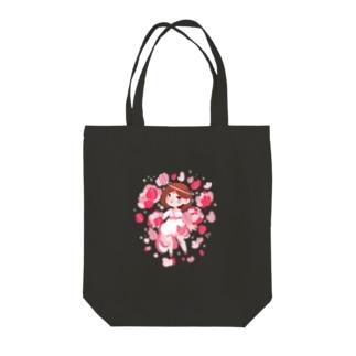 PINK花 Tote bags