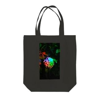 「レインボー紫陽花」 Tote bags